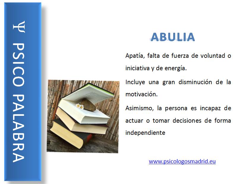 Abulia - Psico palabra