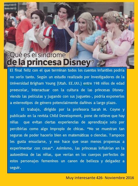 El síndrome de la Princesa Disney